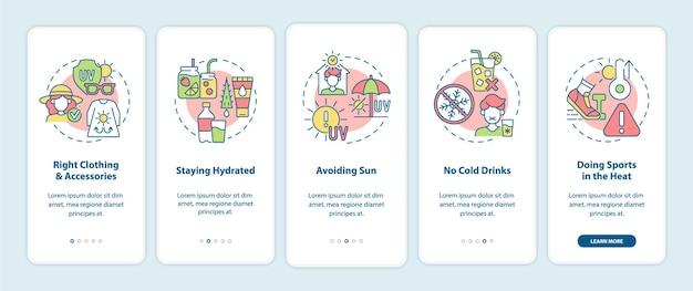 Ekran startowy aplikacji mobilnej zapobiegający udarom cieplnym.