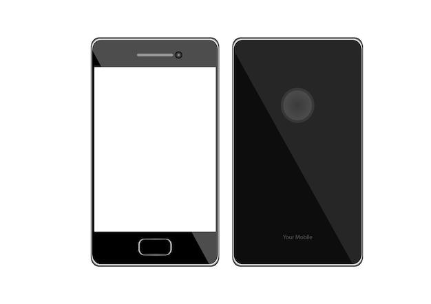 Ekran telefonu komórkowego na białym tle