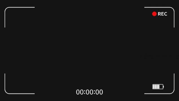 Ekran wizjera ramki kamery interfejsu cyfrowego wyświetlacza rejestratora wideo.