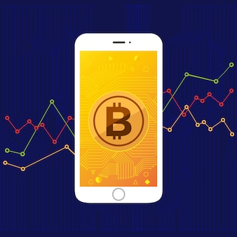 Ekranowy bitcoin mobilny