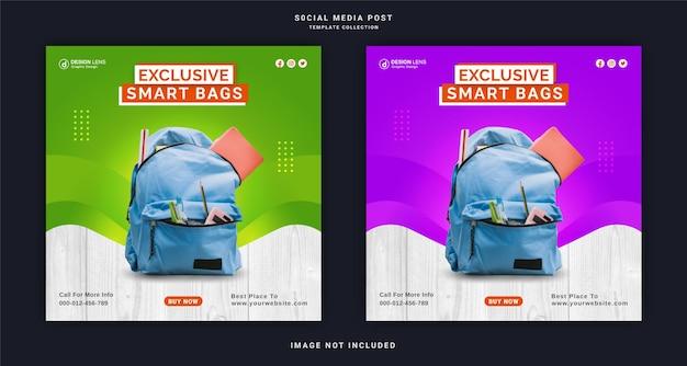 Ekskluzywna kolekcja inteligentnych torebek instagram story ad szablon postu w mediach społecznościowych