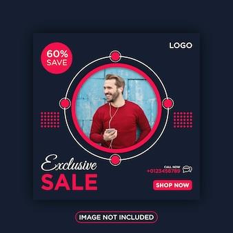 Ekskluzywna sprzedaż w mediach społecznościowych na instagramie