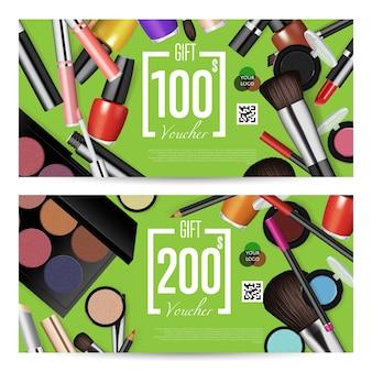 Ekskluzywny szablon kuponu upominkowego na zakupy kosmetyczne