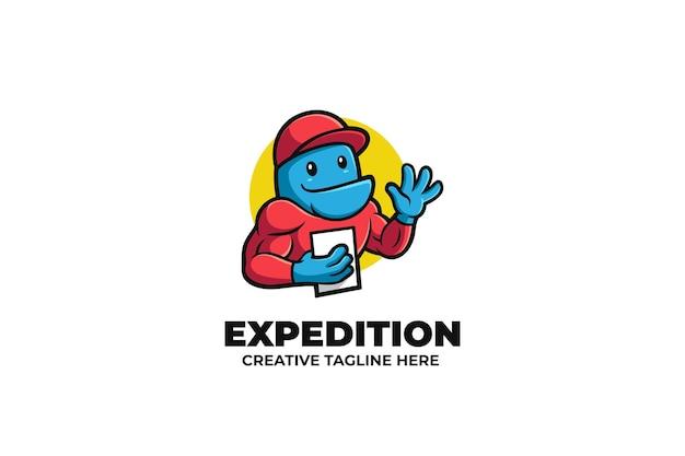 Ekspedycja kurier dostawa usługa maskotka logo