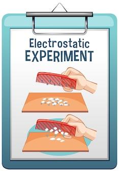 Eksperyment elektrostatyczny z grzebieniem i papierem