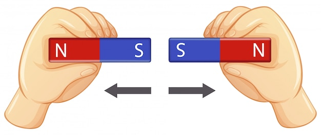 Eksperyment pola magnetycznego z prętami magnetycznymi