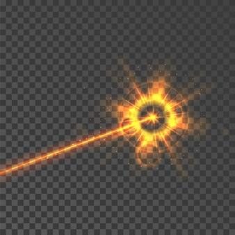 Eksplozja energii światła wiązki lasera
