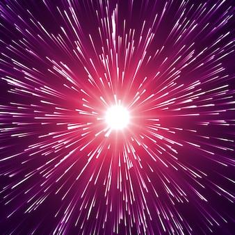 Eksplozja energii z cząsteczkami