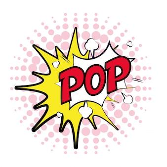 Eksplozja mowy bąbelkowej pop wykropkowane