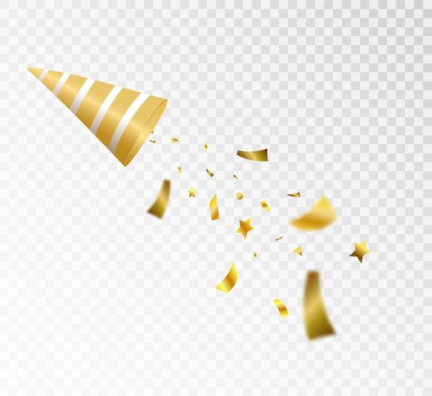 Eksplozja spadających cukierków na przezroczystym tle świąteczna ilustracja do prezentacji