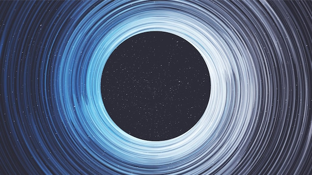 Eksplozja spiralna czarna dziura na tle galaktyki.