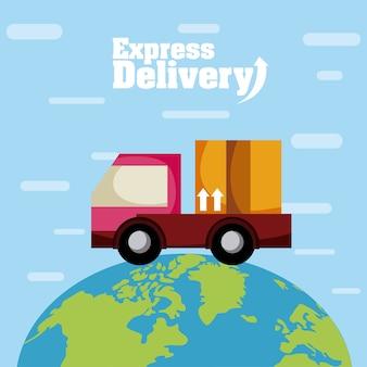 Ekspresowe kreskówki samochodów dostawczych