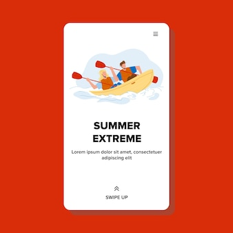Ekstremalne wakacje lato w kajaku na rzece