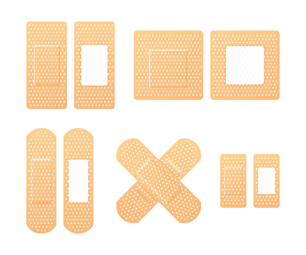 Elastyczne plastry medyczne. bandaż samoprzylepny, zwany kolekcją przylepców.