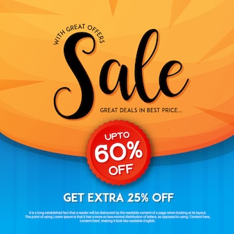 Eleagnt sale with discount marketing banner