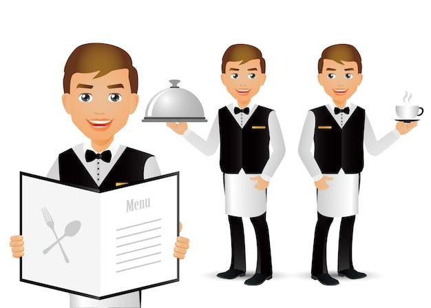 Eleganccy ludzie profesjonalny kelner