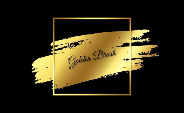 Elegancja złota rama grunge