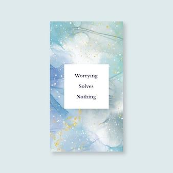 Elegancka abstrakcyjna marmurowa tapeta mobilna
