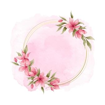 Elegancka akwarela kwiatowy rama