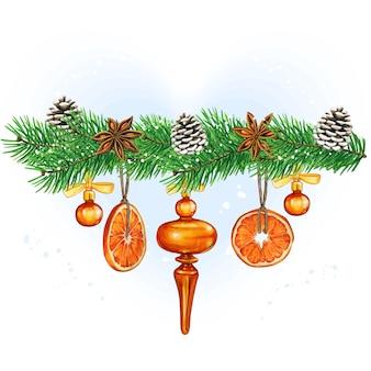 Elegancka akwarela vintage przekładka świąteczna