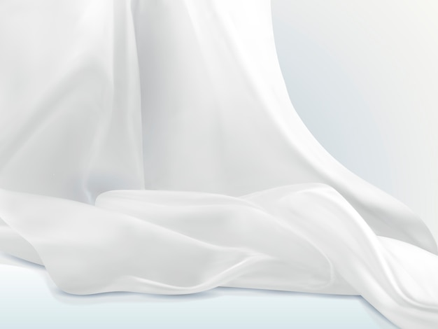 Elegancka biała satynowa ilustracja