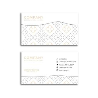 Elegancka biznesowa karta wzór geometrii.