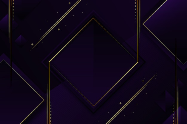 Elegancka ciemna tapeta ze złotymi detalami