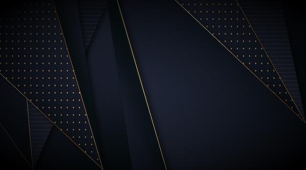 Elegancka ciemna tapeta ze złotymi liniami