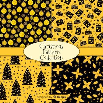 Elegancka czarna i złota kolekcja świąteczna
