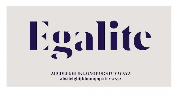 Elegancka czcionka szeryfowa i cyfry alfabetu
