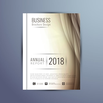 Elegancka falista roczna broszura raportu