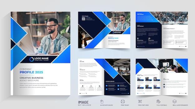 Elegancka firmowa broszura bi-fold premium vector