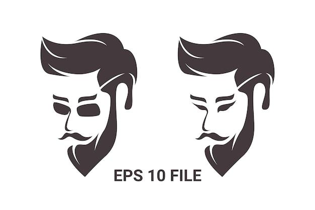 Elegancka ilustracja logo w stylu vintage fajny mężczyzna