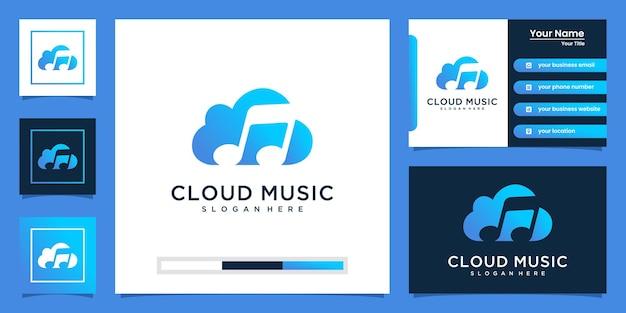 Elegancka inspiracja logo muzyki w chmurze