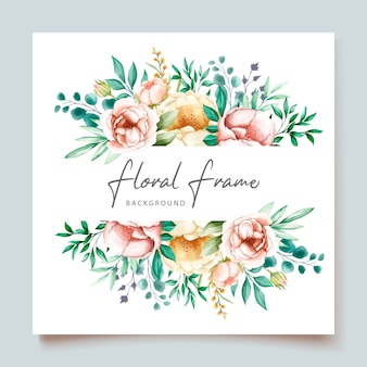 Elegancka karta zaproszenie na ślub z pięknym kwiatowym