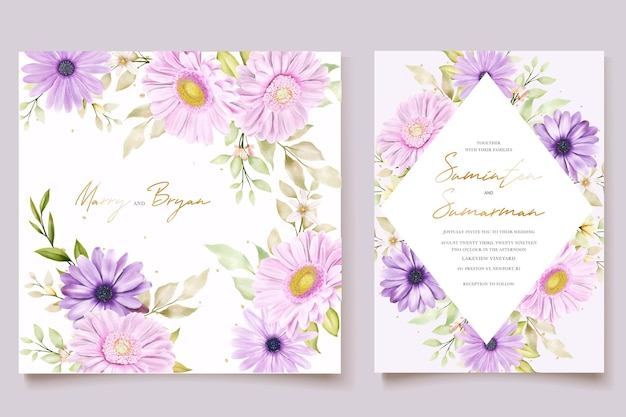Elegancka karta zaproszenie na ślub