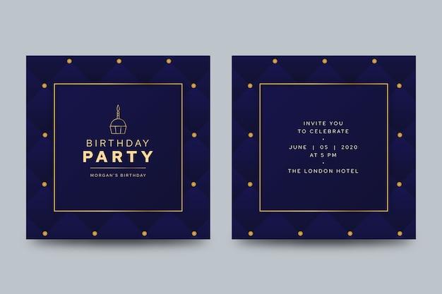 Elegancka kartka urodzinowa z abstrakcyjnymi światłami scenicznymi
