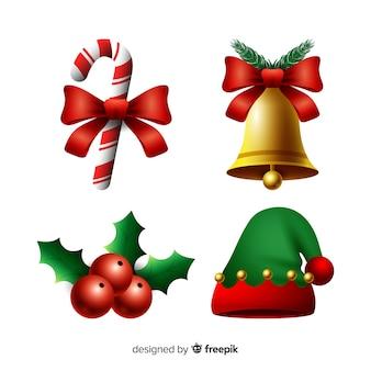 Elegancka kolekcja elementów świątecznych z realistycznym wzorem