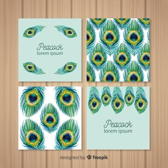 Elegancka kolekcja kart peacock