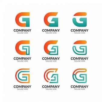 Elegancka kolekcja logo litera g.