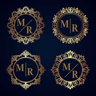 Elegancka kolekcja monogramów ślubnych