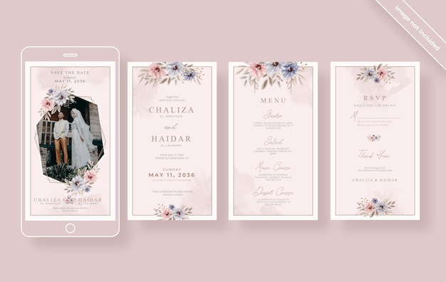 Elegancka kolekcja opowiadań ślubnych na instagramie