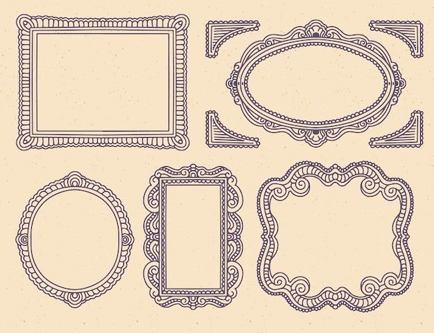 Elegancka kolekcja ozdobnych ramek