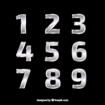 Elegancka kolekcja srebrnych numerów
