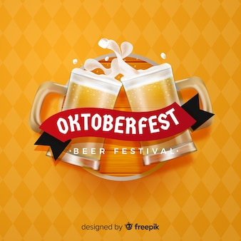 Elegancka kompozycja oktoberfestu z realistycznym designem