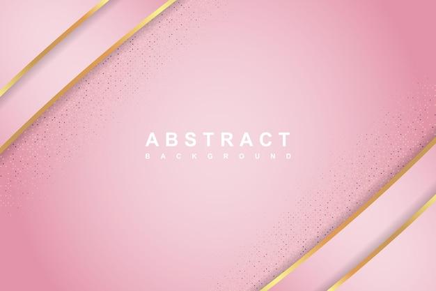 Elegancka koncepcja różowego luksusu z błyszczącą teksturą złota i brokatu