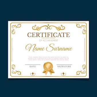 Elegancka koncepcja szablonu certyfikatu