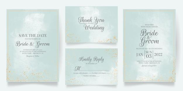 Elegancka koncepcja zaproszenia ślubne