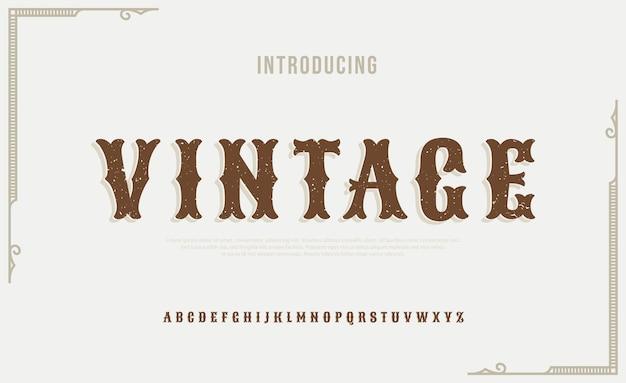 Elegancka kursywa w stylu vintage litery alfabetu czcionki typografia luksusowe klasyczne litery czcionki szeryfowe wystrój