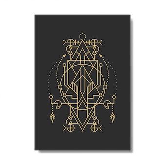 Elegancka linia geometrii koła trójkąta
